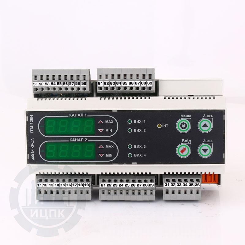 Двухканальный индикатор на DIN-рейку ИТМ-120НУ фото №1